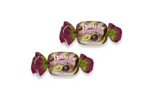 Цукерки глазуровані з арахісом Грильяж чорносливовий Тріоконд кг
