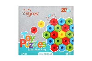 Іграшка розвиваюча для дітей від 12міс №39182 Ігропазли Tigres 20ел