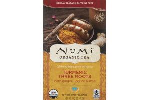 Numi Organic Tea Turmeric Three Roots - 12 CT
