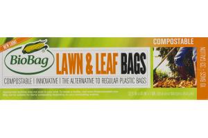 BioBag Compostable 33 Gallon Lawn & Leaf Bags - 10 CT