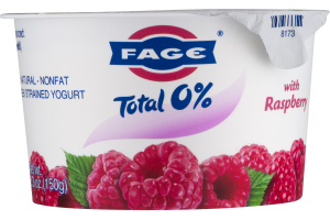Fage Total 0% Nonfat Greek Strained Yogurt With Raspberry