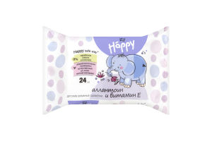 Серветки вологі allantoin Happy Baby Bella 24шт
