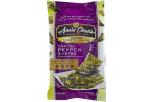 Annie Chun's Roasted Seaweed Snacks Cracked Pepper & Herbs
