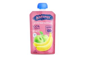 Пюре для дітей від 6міс Яблуко-банан Карапуз д/п 100г