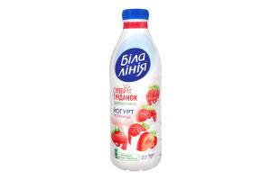 Йогурт 1.5% питний Полуниця Біла лінія п/пл 820г