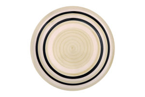 Тарелка коричневая 19 см