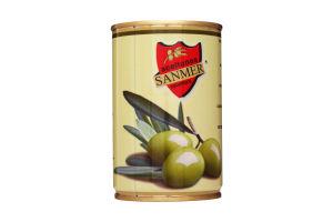 Оливки Sanmer зеленые с косточкой