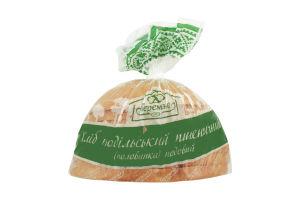 Хлеб подольский пшеничный подовый половинка в нарезке Теремно м/у 0.35кг