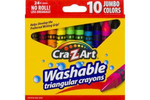 Cra-Z-Art Washable Triangular Crayons - 10 CT