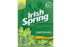 Irish Spring Deodorant Soap Bars Original - 8 CT