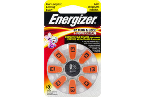 Energizer Zinc Air Batteries 13 1,4V Hearing Aid - 8 CT