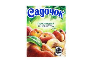 Сок персиковый с мякотью Садочок т/п 0.2л