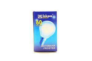 Лампа Iskra кулька 230У 60Вт Е14 матова