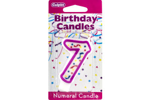 Culpitt Birthday Candles Numeral Candle 7