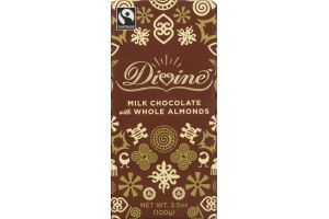 Divine Milk Chocolate With Whole Almonds