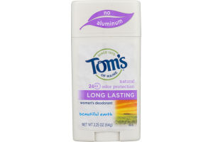 Tom's Of Maine Long Lasting Women's Deodorant Beautiful Earth