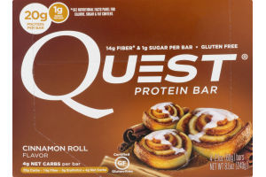 Quest Protein Bars Cinnamon Roll - 4 CT