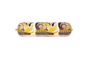 Морозиво «Banana-Maroccana» LASKA двошарове зі смаком банану та з ароматом ванілі з 450г плівка
