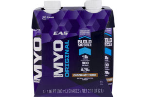 EAS MyoPlex Original Chocolate Fudge - 4 CT