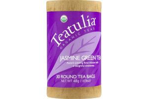 Teatulia Organic Teas Jasmine Green Tea Bags - 30 CT