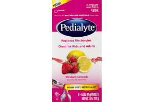 Pedialyte Electrolyte Powder Strawberry Lemonade - 6 CT
