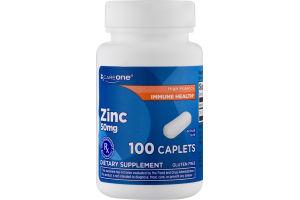 CareOne Zinc 50mg Caplets - 100 CT