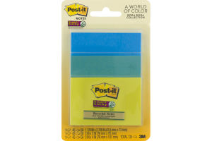 Post-it Notes Super Sticky Bora Bora Collections - 3 PK