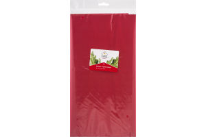 """Smart Living Holiday Plastic Table Cover Apple Red 54"""" x 108"""""""