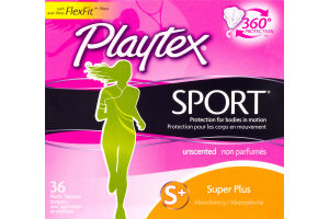 Playtex Sport Super Plus Tampons Unscented - 36 CT