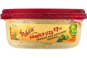 Sabra Family Size 17 oz Spinach And Artichoke Hummus