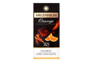 Шоколад чорний 74% Orange Favorite Millennium к/у 100г
