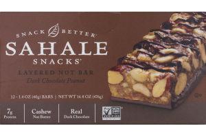 Sahale Snacks Layered Nut Bar Dark Chocolate Peanut - 12 CT