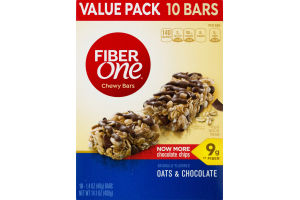 Fiber One Chewy Bars Oats & Chocolate Value Pack - 10 PK