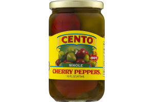 Cento Whole Cherry Peppers Hot