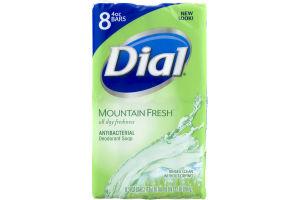 Dial Antibacterial Deodorant Soap Mountain Fresh - 8 CT