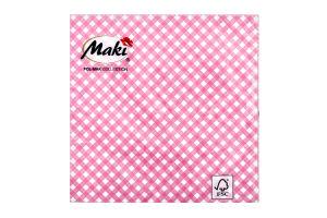 Салфетки Maki с рисунком бумажная 3-слойная M-24