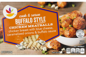 Ahold Cook & Serve Chicken Meatballs Buffalo Style