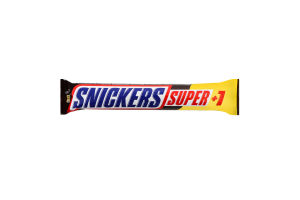 Батончик зі смаженим арахісом, карамеллю і нугою, вкритий молочним шоколадом Super+1 Snickers м/у 3х37.5г