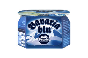 Сир 70% м'який з білою та блакитною цвіллю Bavaria blu Bergader к/у 150г