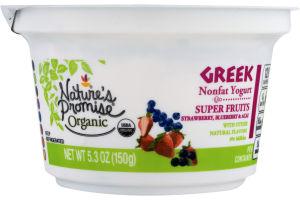 Nature's Promise Organic Greek Nonfat Yogurt Super Fruits