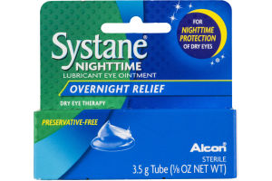 Systane Nighttime Lubricant Eye Ointment Overnight Relief
