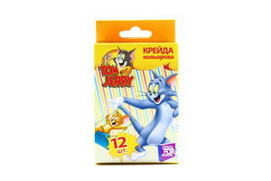 Крейда Tom and Jerry кольорова 12шт