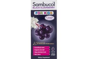 Sambucol Black Elderberry For Kids Dietary Supplement Syrup Berry Flavor