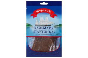 Кальмары сушеные соленые Паутинка Морские м/у 30г