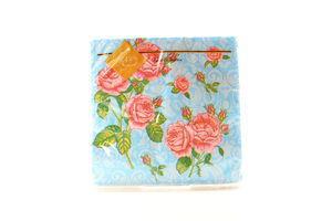 Серветки Luxy паперові Букет троянд блакитна 33*33см 20шт