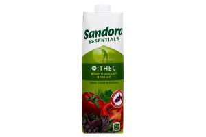 Сок томатный с солью и экстрактами трав Фитнес Essentials Sandora т/п 0.95л