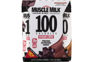 Muscle Milk 100 Calorie Protein Nutrition Shake Chocolate - 4 CT