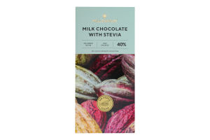 Шоколад 40% молочний зі стевією Millennium к/у 100г