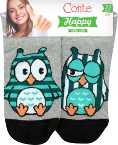 CONTE Шкарпетки жіночі Happy 17С-21СП р.23 098 сірий