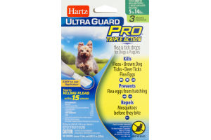 Hartz Ultra Guard Pro Flea & Tick Drops For Dogs And Puppies Weighing 5-14 lbs. - 3 CT